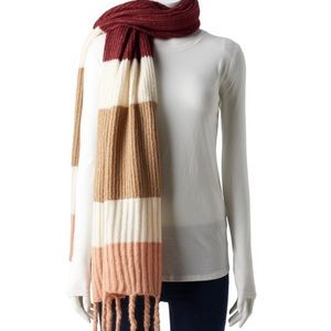 Berry Color Combo Scarf